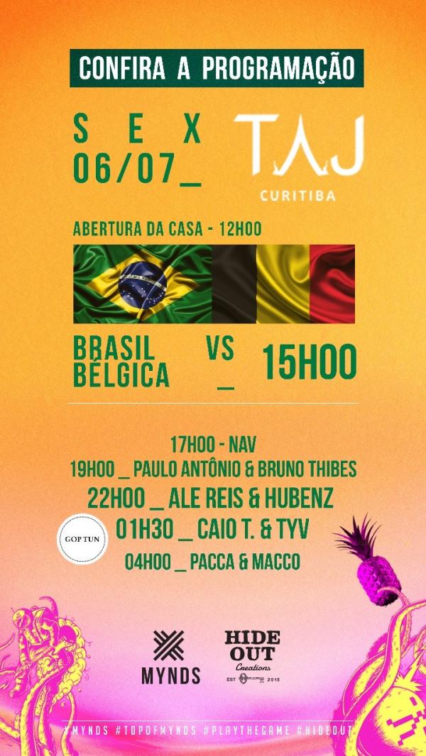 Taj Bar tem promoção de sushi e bolão na torcida do jogo do Brasil 039fa96122524