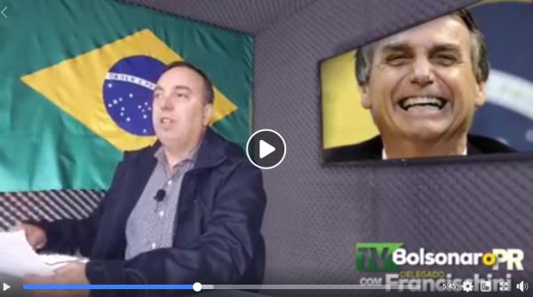 'TV Bolsonaro' de Francischini dribla tempo escasso na propaganda eleitoral
