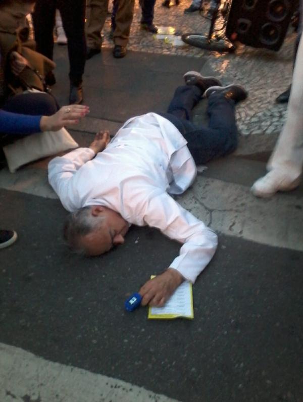 Professor Galdino é agredido por punks no Centro de Curitiba