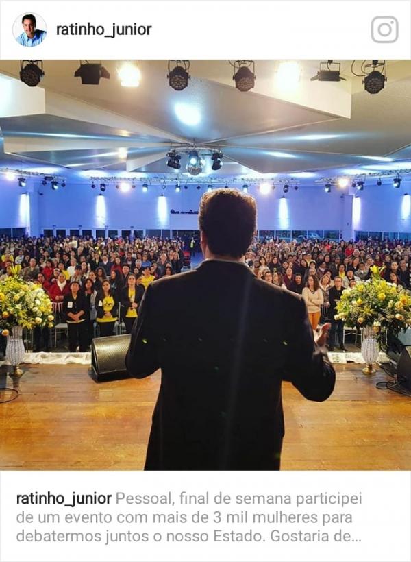 Ratinho Junior coloca três mil mulheres em evento
