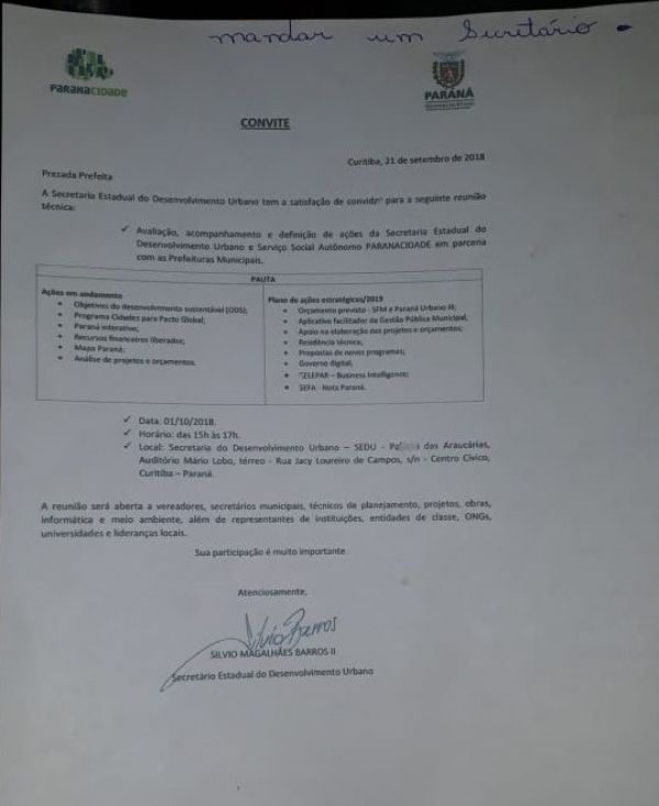 Silvio Barros pressiona prefeitos para apoiar Cida Borghetti