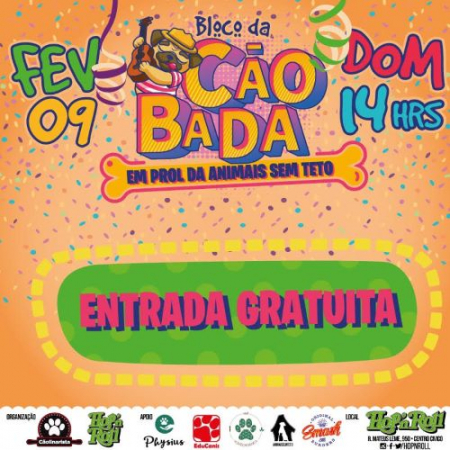 Bloco de carnaval pet agita o domingo