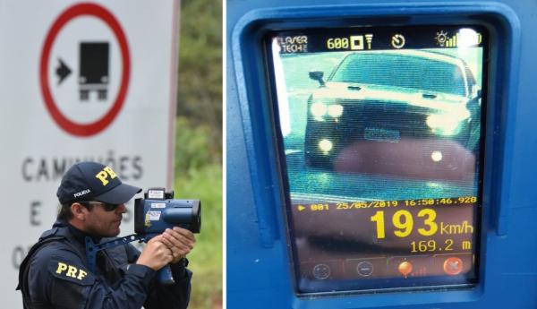 154c8d627 Radar da PRF flagra carro de luxo a 193 km h em Guaratuba