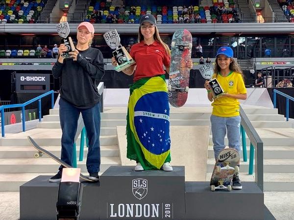 Brasileiras brilham no pódio