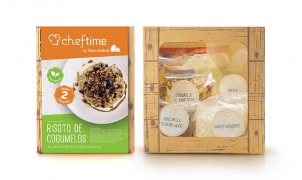 Kit para risoto de cogumelos da linha Cheftime