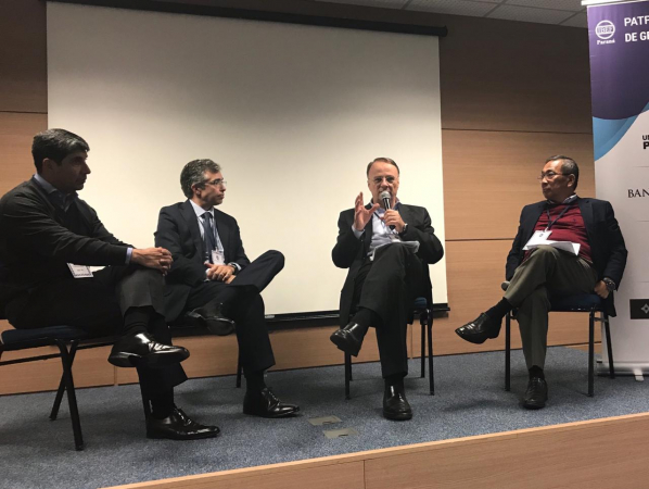 Claudio Lubasher, do Ibef-PR, Rafael Bicca Machado, Eduardo Bernini e Gino Oyamada