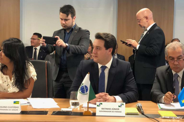 Em Brasília, Ratinho Jr defende que reforma da previdência inclua estados e municípios