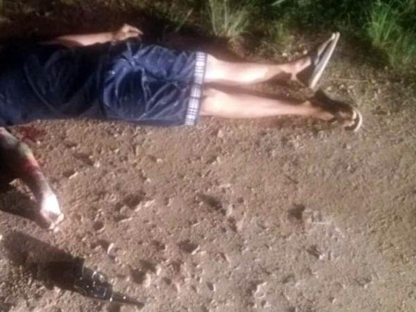 O corpo do rapaz em Fazenda Rio Grande