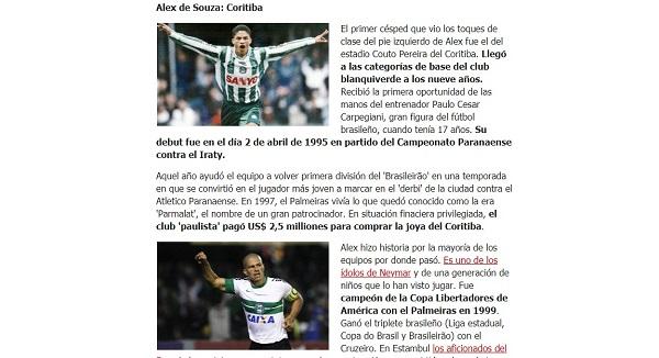 Reportagem com Alex no site do Marca