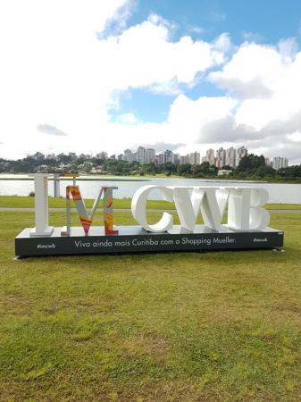 Placa no Parque Barigui