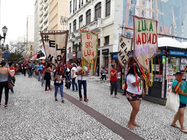 Mobilização de apoio a Haddad e Lula fracassa em Curitiba