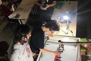 Gibiteca expõe trabalhos de alunos da incubadora de arte digital