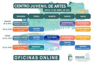 Centro Juvenil de Artes Plásticas terá oficina on-line para 'youtuber'; inscrições estão abertas