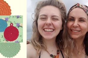 Mãe e filha produzem crochê sustentável substituto do algodão em Curitiba