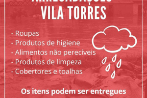 DCE da PUCPR organiza doações para Vila Torres após fortes chuvas