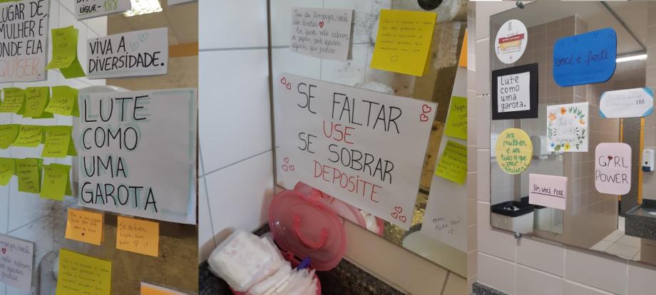 Alunas Da Pucpr Criam Rede De Apoio Feminino Em Banheiros Do
