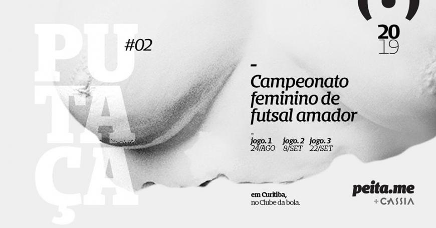 Cartaz do evento de futsal feminino.