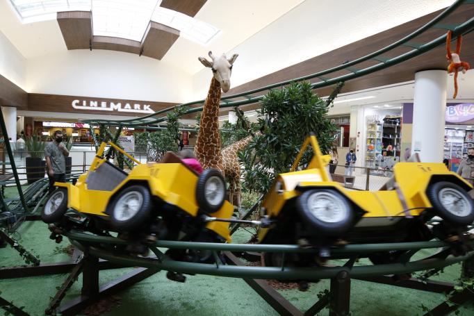 Montanha Russa Safari no Shopping Mueller é uma das atrações