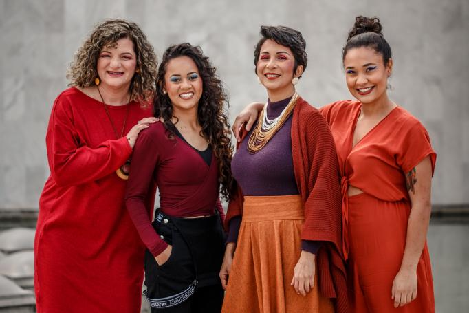 Maristela Ávila, Bruna Alcântara, Cida Airam e Halanna Águiar