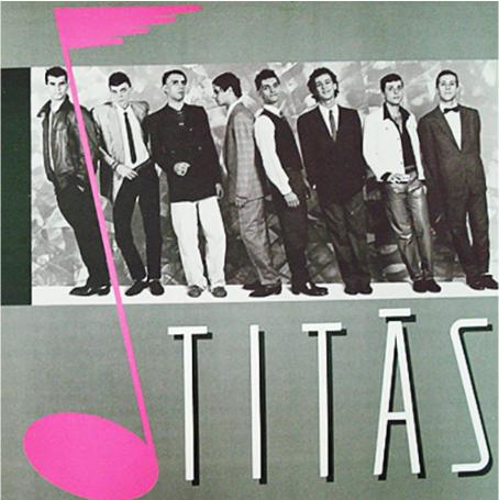 Capa do primeiro álbum, homônimo, dos Titãs.