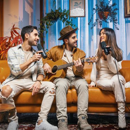 'Deixa vir do Coração' é a realização de um sonho para Diogo, Rodrigo e Gabi Melim, fãs de Djavan