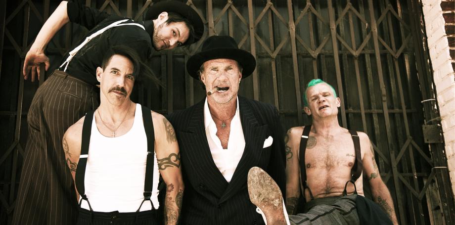Red Hot na sua formação atual: Josh Klinghoffer, Anthony Kiedis, Chad Smith e Flea.