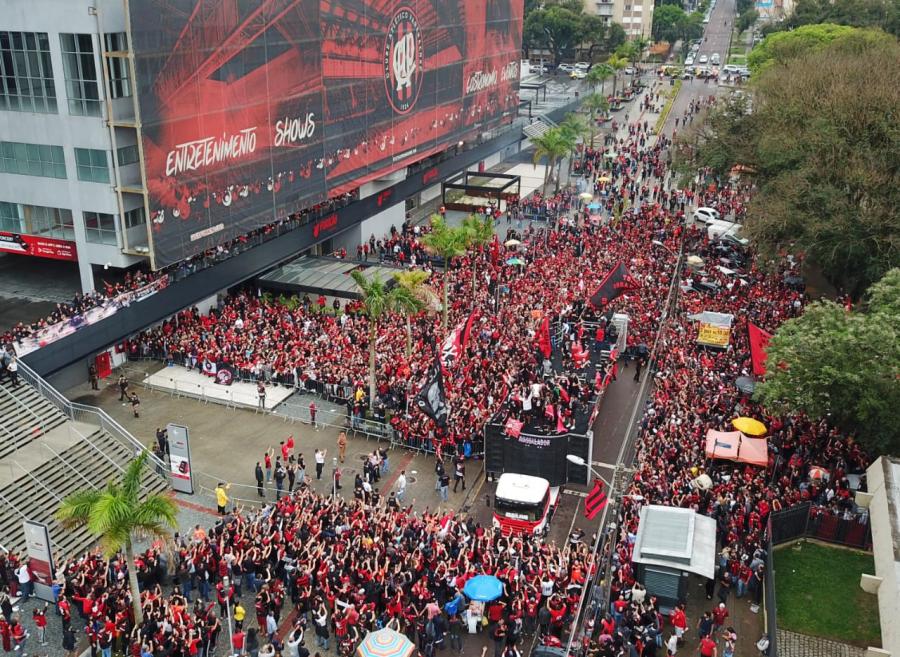 Festa dos campeões da Copa do Brasil em Curitiba
