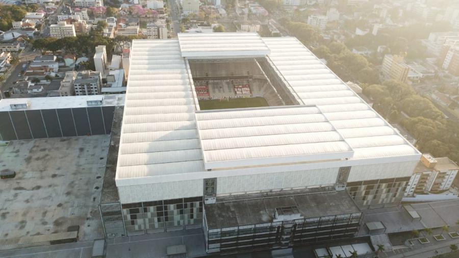 A Arena da Baixada, durante Athletico x Londrina