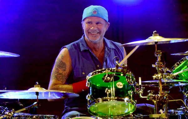 Chad Smith, baterista do Red Hot Chili Peppers.