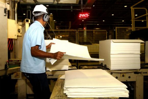 F\u00e1brica de celulose Suzano Celulose, em Mucuri, na Bahia