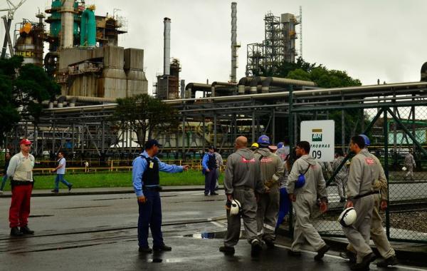 Refinaria da Petrobras em Cubat\u00e3o, interior de S\u00e3o Paulo