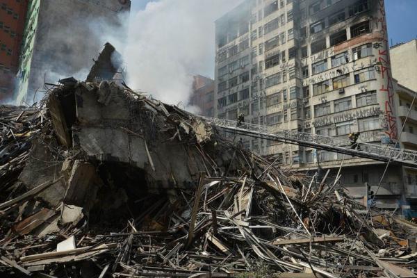 Resultado de imagem para prédio que desabou em SP