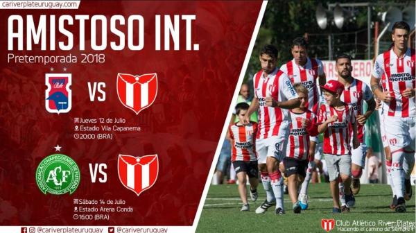 River Plate, do Uruguai, divulga amistosos com o Paran\u00e1 e com a Chapecoense