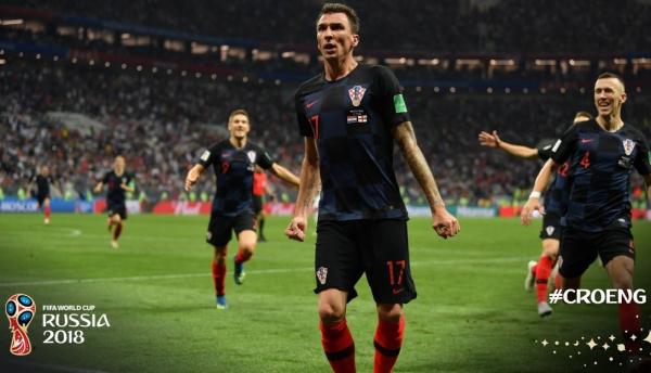 Mandzukic, 32 anos, comemora gol sobre a Inglaterra