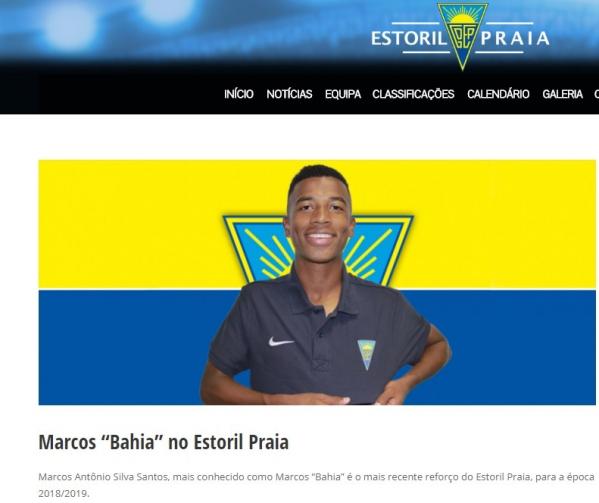 Marcos Bahia \u00e9 apresentado pelo Estoril