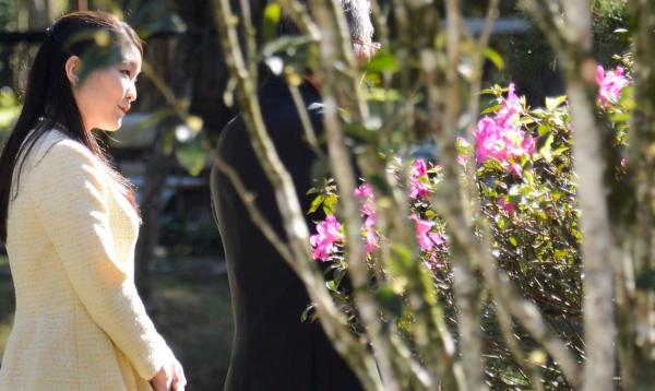 Princesa Mako em visita ao Jardim Bot\u00e2nico carioca durante sua passagem pelo Rio de Janeiro