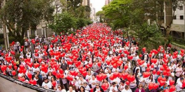 Tradicional Caminhada do Coração de Curitiba acontece no dia 30 de setembro