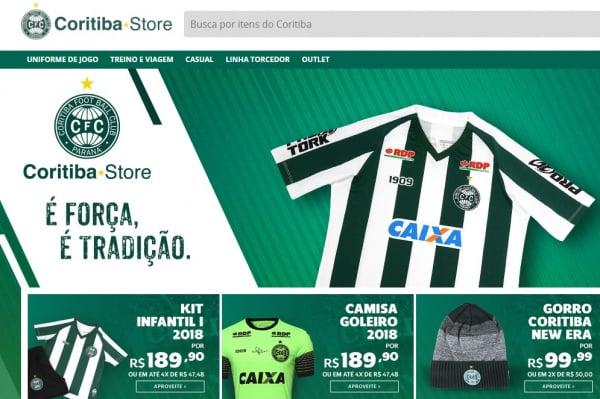 ef2956054eca3 Coritiba lança loja online com 50 produtos oficiais do clube - Bem ...