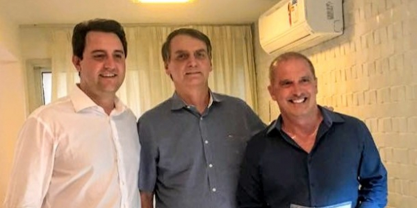 Ratinho Jr, Jair Bolsonaro e Onyx Lorenzoni