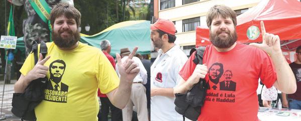 Na Boca Maldita, rea\u00e7\u00f5es entusi\u00e1sticas de apoio a camiseta de Bolsonaro \/ Camiseta pr\u00f3-Lula quase provocou briga entre militantes advers\u00e1rios