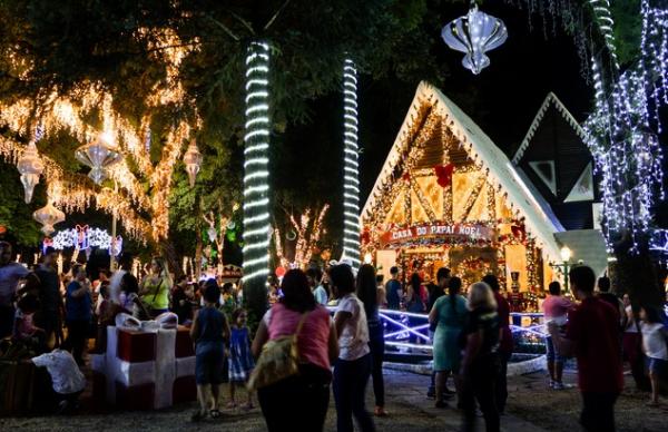 Casa do Papai Noel no Parque da Fonte