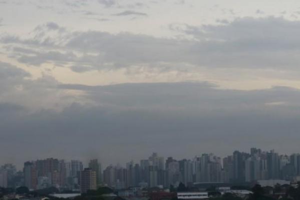 Curitiba com tempo nublado