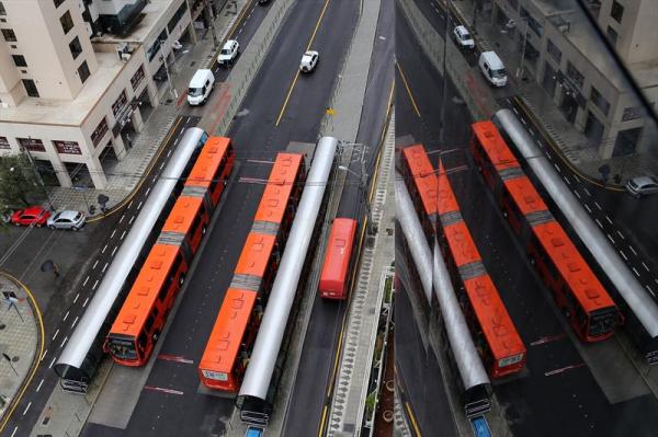 Curitiba pode ficar sem ônibus a partir desta quinta-feira por falta de combustível
