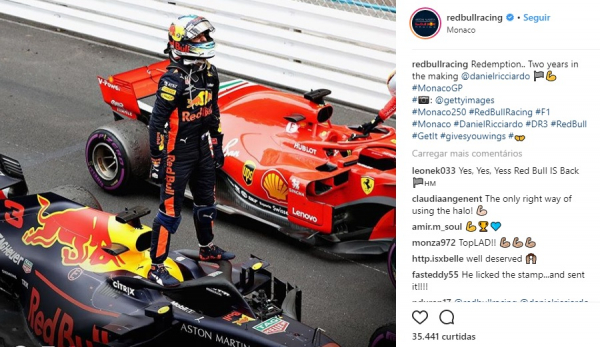 Ricciardo comemora vit\u00f3ria na F1