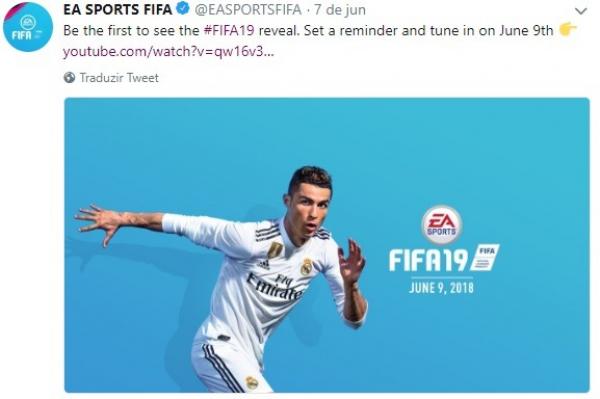 Twitter da EA Sports anuncia o Fifa 19
