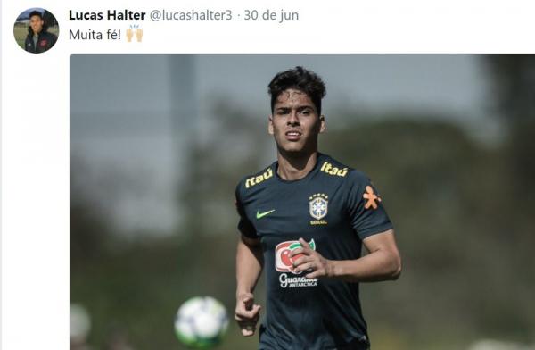 O zagueiro Lucas Halter, do Atl\u00e9tico Paranaense