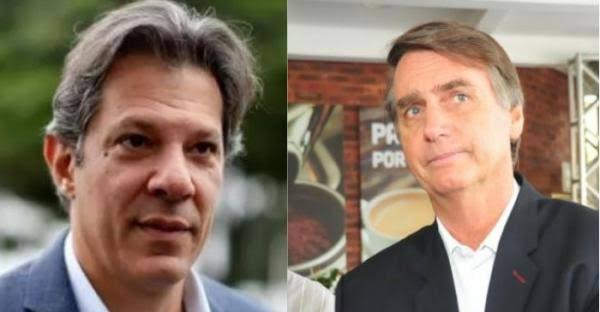 Resultado de imagem para Bolsonaro vai a 28% e Haddad, a 16%