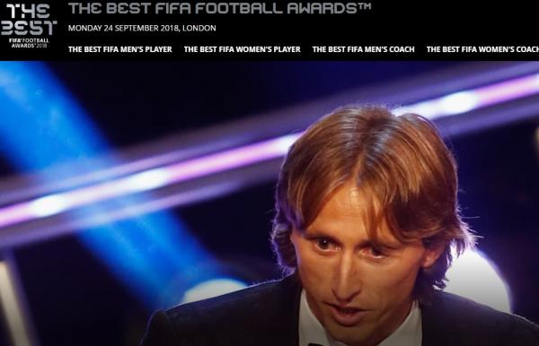 Modric \u00e9 anunciado pela Fifa como o melhor do mundo