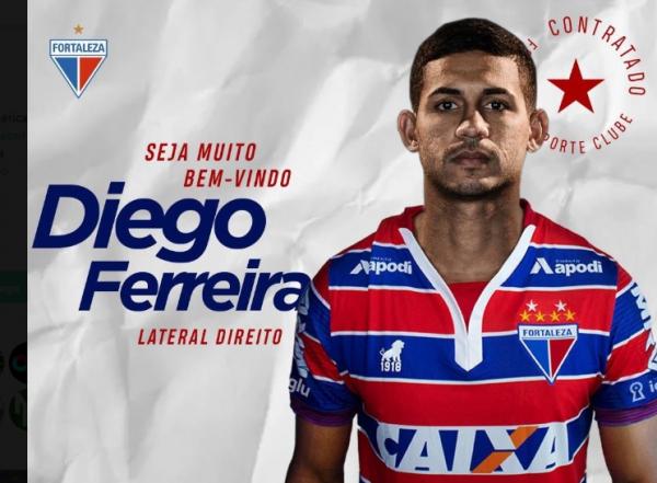 Diego Ferreira \u00e9 confirmado pelo Fortaleza