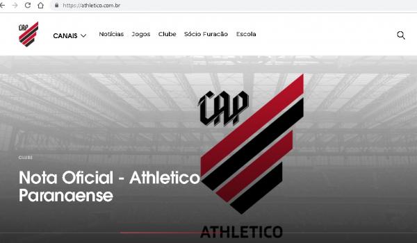 O site oficial do Atl\u00e9tico Paranaense